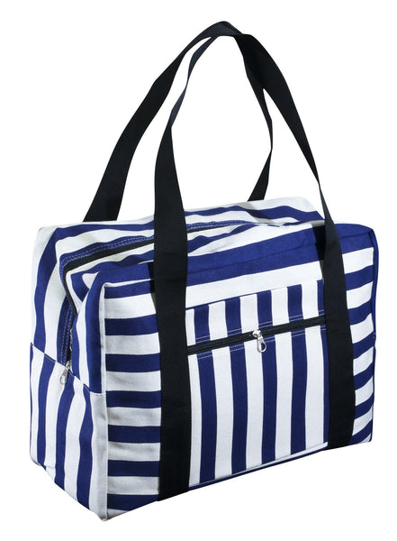 Carry On with Trolley Strap Cotton Canvas Printed Bag - CCCollections