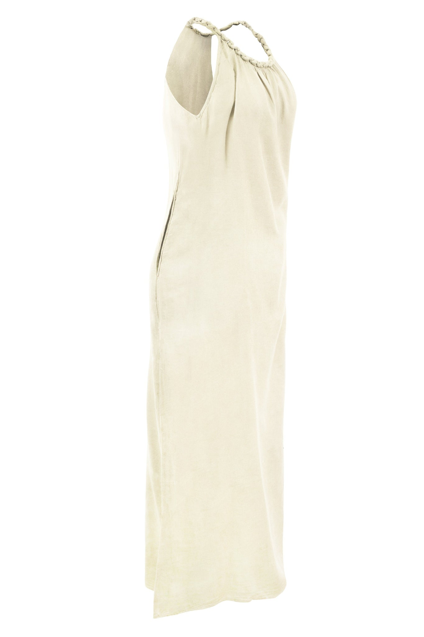Cotton Long Maxi Dress Strap Plait - CCCollections