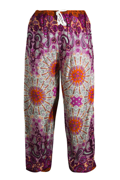 Yoga Trouser natural fibre rayon Pyjama lounge CCCollections pink psychedelic trouser