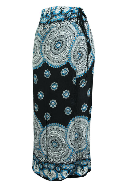 Wrap Sarong Skirt Mandala Flower print - CCCollections