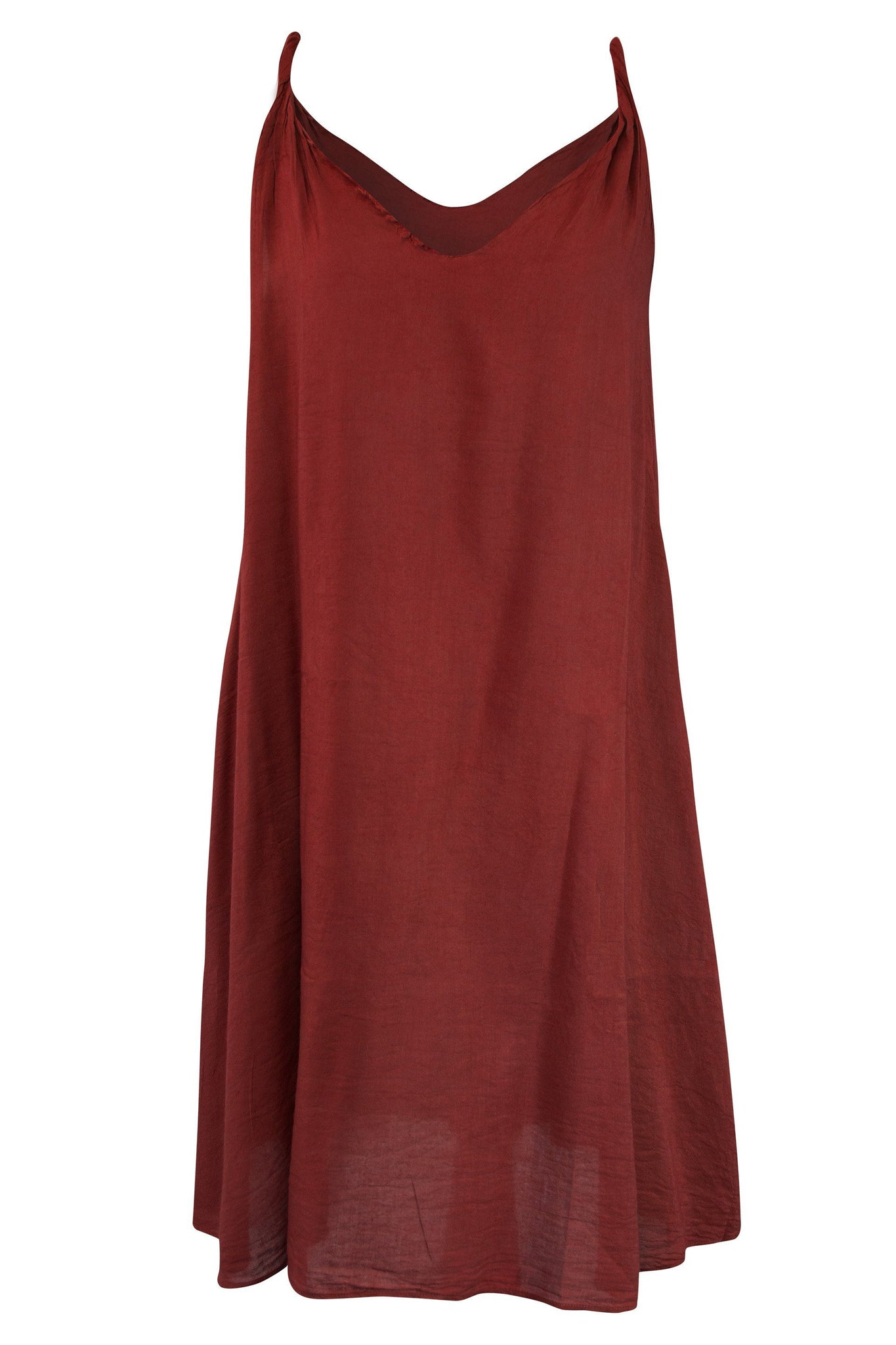 Cotton Camisole Dress V Neck A Line - CCCollections