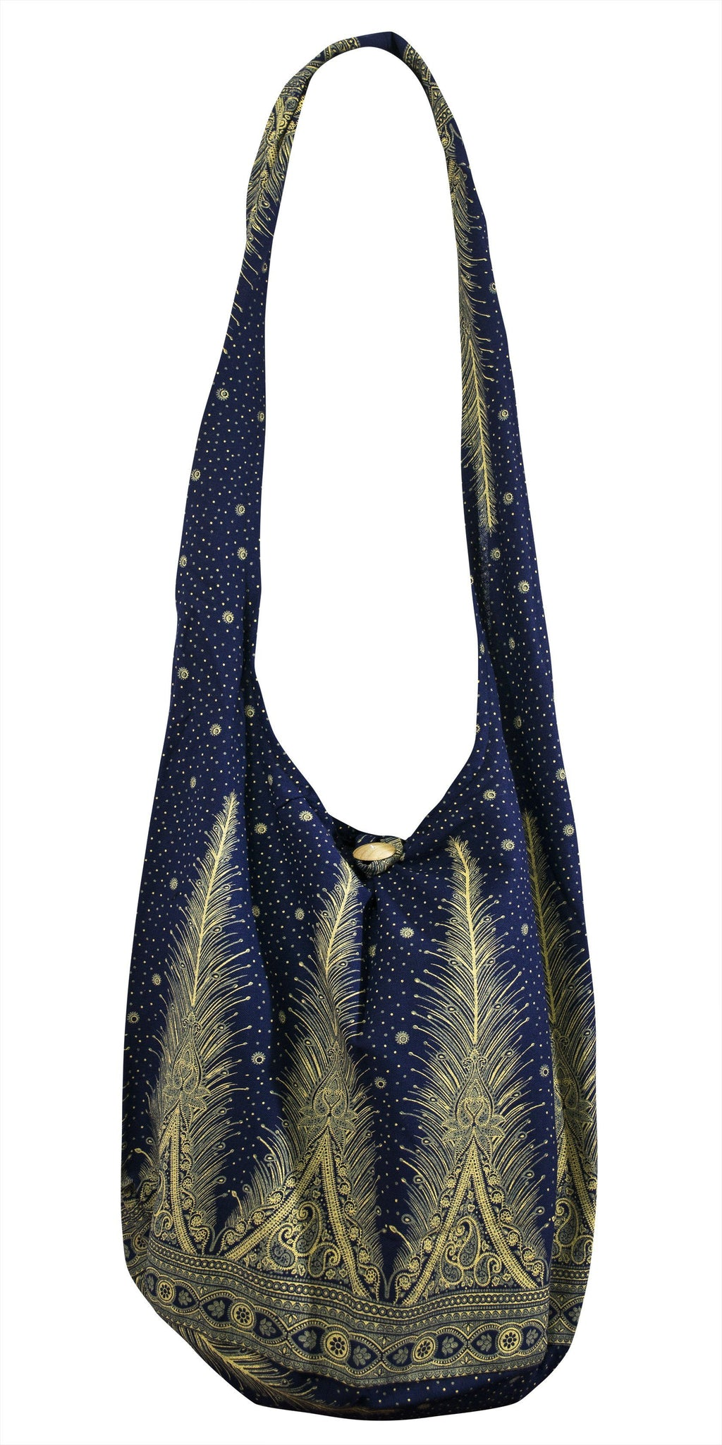 b7a5da157d6f SLING GRAPHIC Feather Bag COTTON CROSS BODY bag LARGE BOHO hippie hobo -  CCCollections