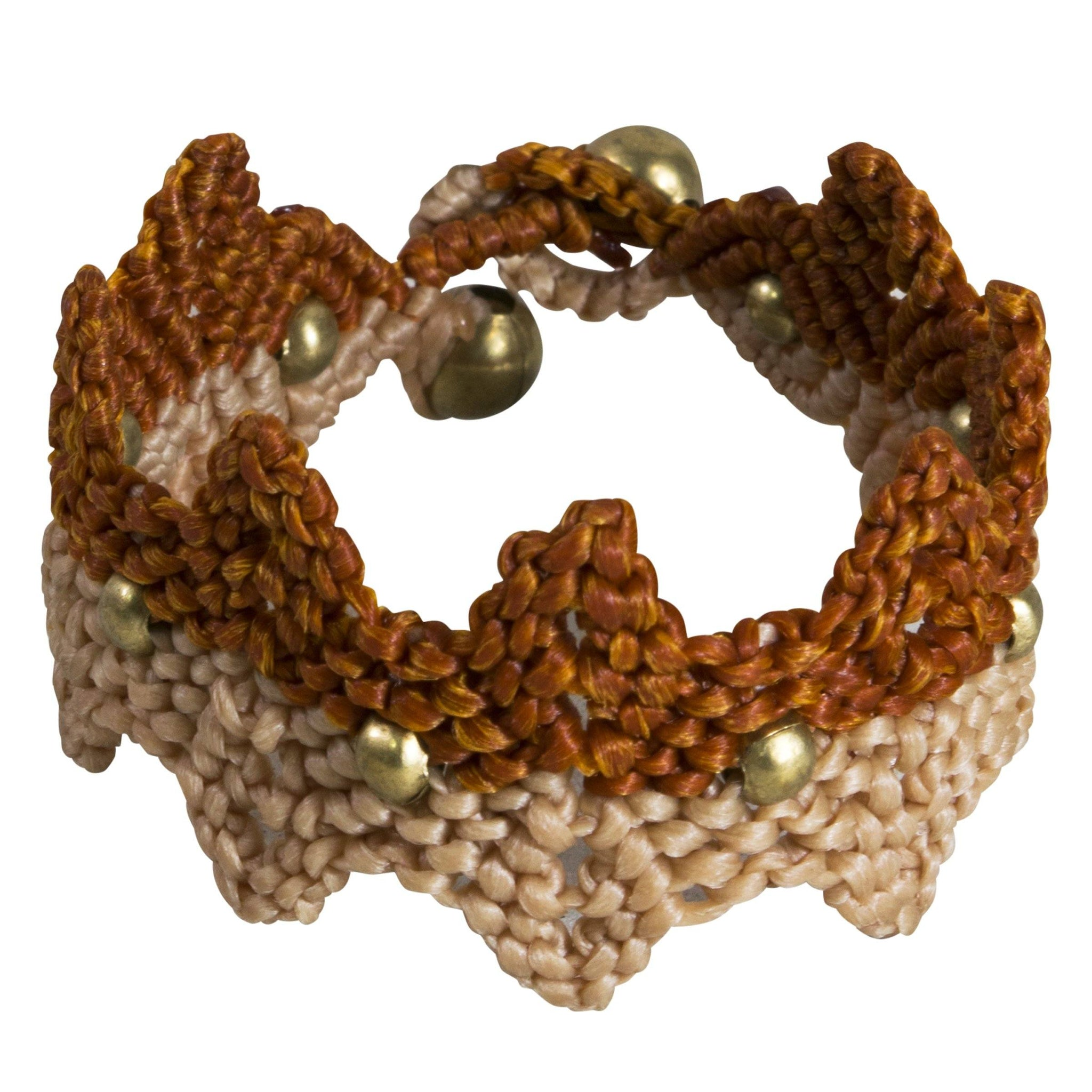 Bracelet Macrame Cuff Stylish Tribal Bohemian Jewellery Unique Accessories - CCCollections