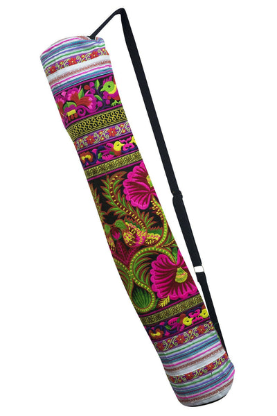 Bohemian Yoga Mat Bag Carrier Embroidered Hill tribe ethnic J - CCCollections