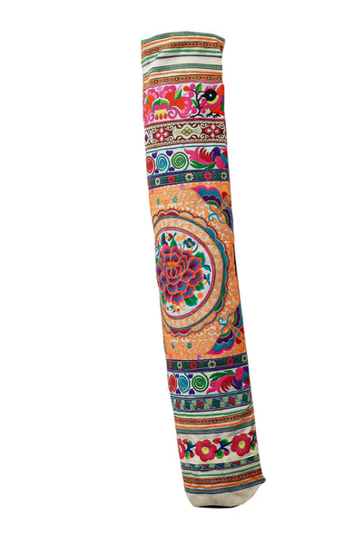 Bohemian Yoga Mat Bag Carrier Embroidered Hill tribe ethnic N - CCCollections