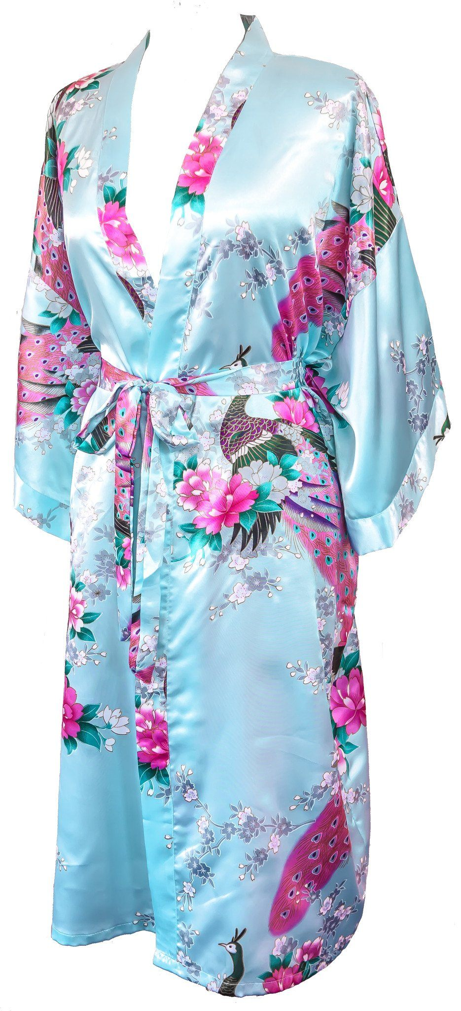 Kimono robe long 16 colors Premium Peacock bridesmaid bridal shower womens gift - CCCollections