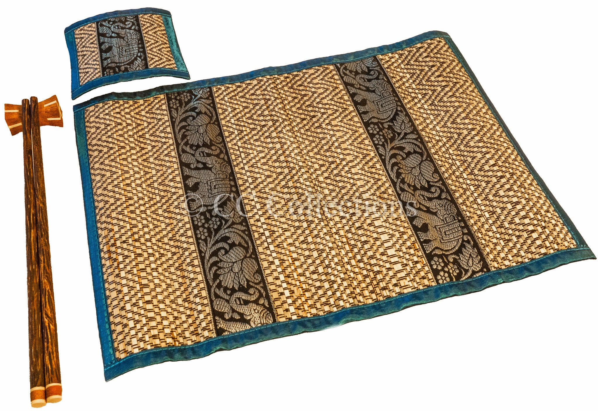 Placemat Chopstick & coasters set of 4 - CCCollections
