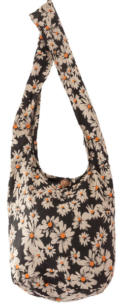 SLING Bag DAISY  COTTON 40 PRINTs Men or Women CROSSBODY bag LARGE BOHO hippie hobo handbag - CCCollections