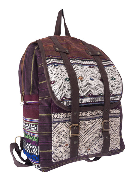 Backpack Hill Tribe Purple Bag - CCCollections
