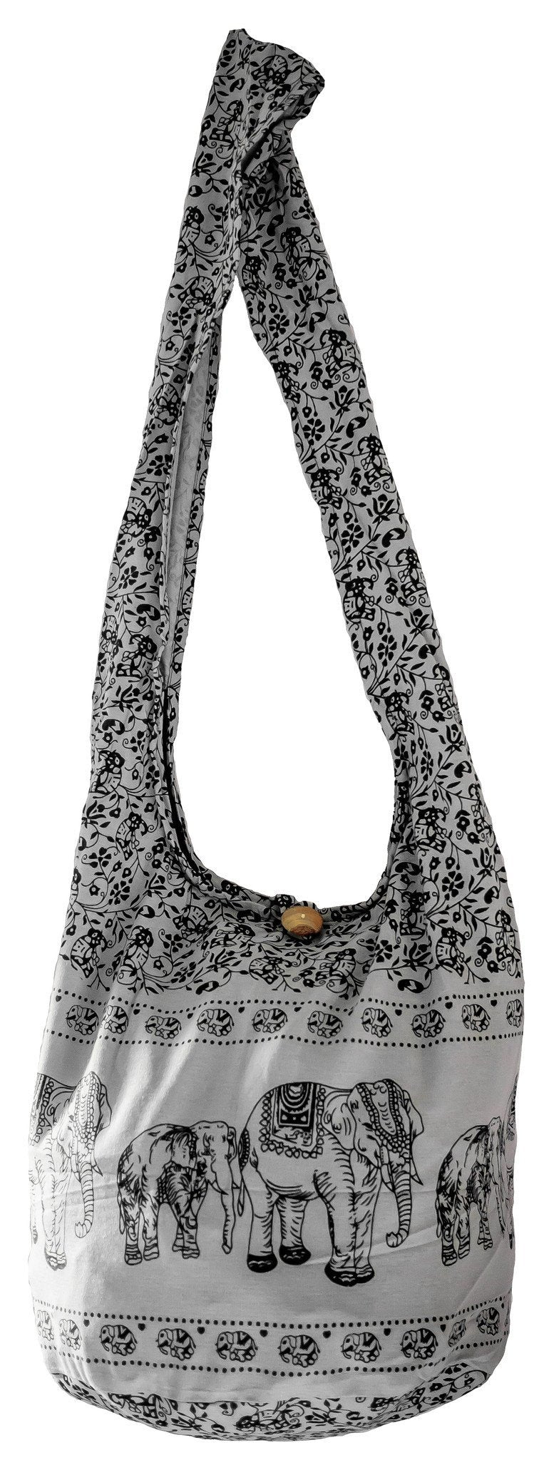SLING ELEPHANT crossbody  bag  DAISY COTTON 40 PRINTs LARGE BOHO hippie hobo - CCCollections