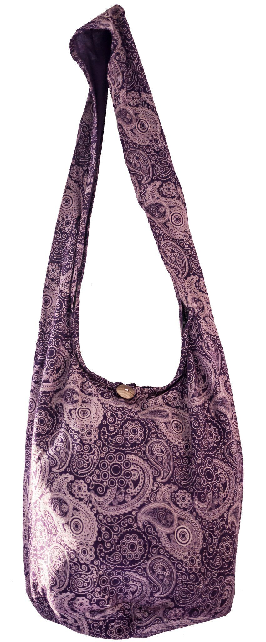 Paisley SLING Bag COTTON 40 PRINTs CROSSBODY bag LARGE BOHO hippie hobo - CCCollections