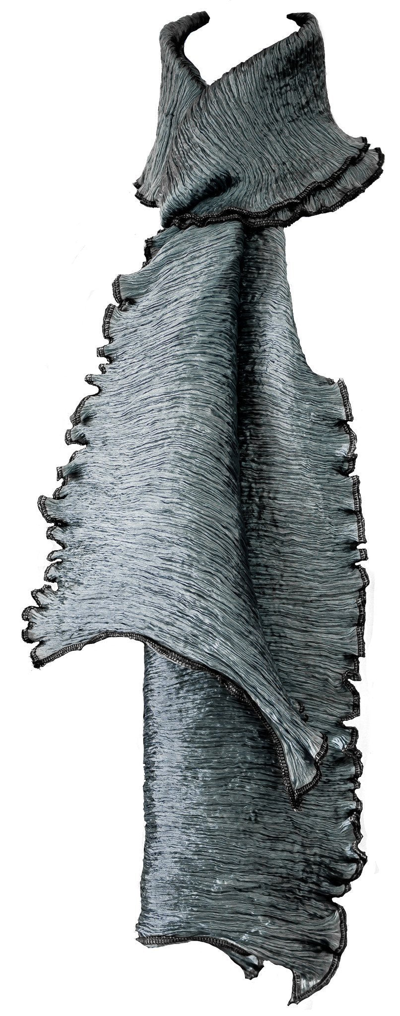 Pure Silk Pleated Scarf - CCCollections