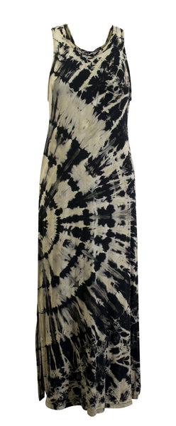 Tie Dye Tank Top Maxi Dress Halter - CCCollections