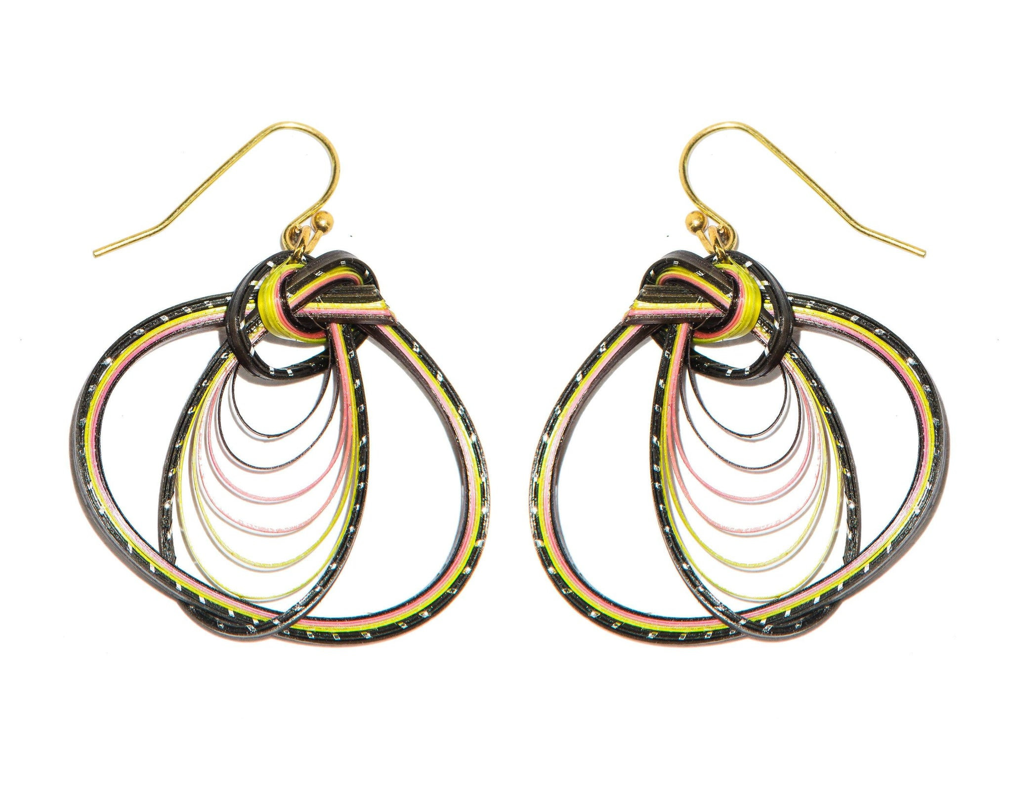 Handmade Bamboo Earring Bass Fashion 10 design each design in 3 colour - CCCollections