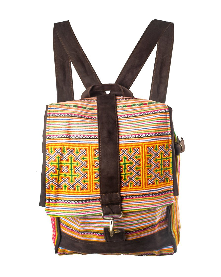Backpack and Bowling Bag Tribal Hill Tribe Unique Style Hand stitches - CCCollections