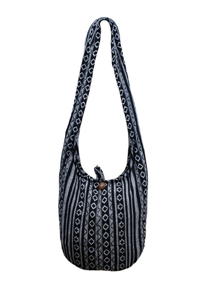 CCcollections Sling Cross body BAG COTTON eco friendly shopping bag - CCCollections