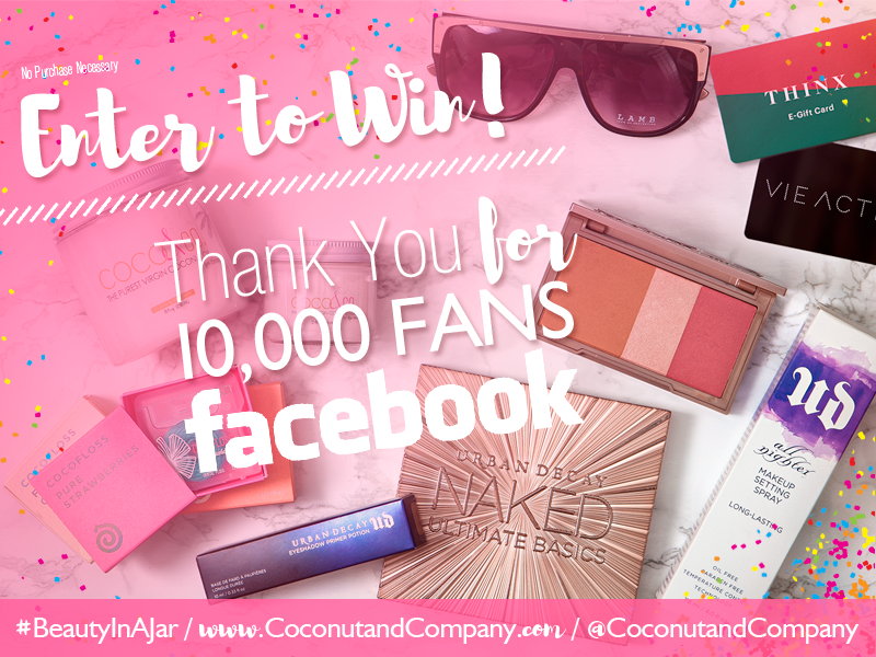 COCO & CO. #BeautyInAJar 10k Giveaway Banner