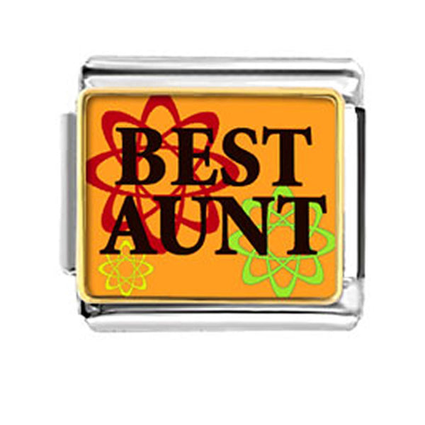 Best Aunt Italian Link Charm Stainless Steel for Italian Bracelet - Sexy Sparkles Fashion Jewelry - 1