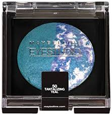 Sparkles Maybelline Eye Studio Color Pearls Marbleized Baked Eye Shadow 50 Tantalizing Teal