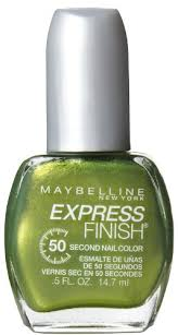 Sexy Sparkles Maybelline New York Express Finish 50 Second Nail Color, 900  Go Go Green