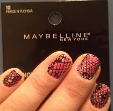 Sexy Sparkles Maybelline Limited Edition Color Show Fashion Prints Nail Stickers - 10 Fierce N Fuchsia