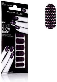 Sexy Sparkles Maybelline Limited Edition Color Show Fashion Prints Nail Stickers -80 Resort Couture