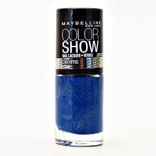 Sexy Sparkles Maybelline Color Show Nail Polish Lacquer Denim Dash 10