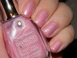 Sexy Sparkles Sally Hansen Diamond Strength Nail Polish 38 Rose Petals