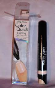 Sexy Sparkles Sally Hansen Color Quick Fast Dry Nail Color Pen 01 Clear Opal