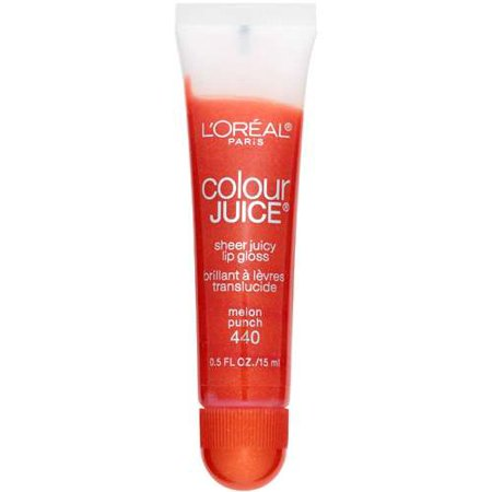 Sexy Sparkles  L'oreal Paris Colour Juice Sheer Juicy 440 Melon Punch Lip Gloss, 0.50