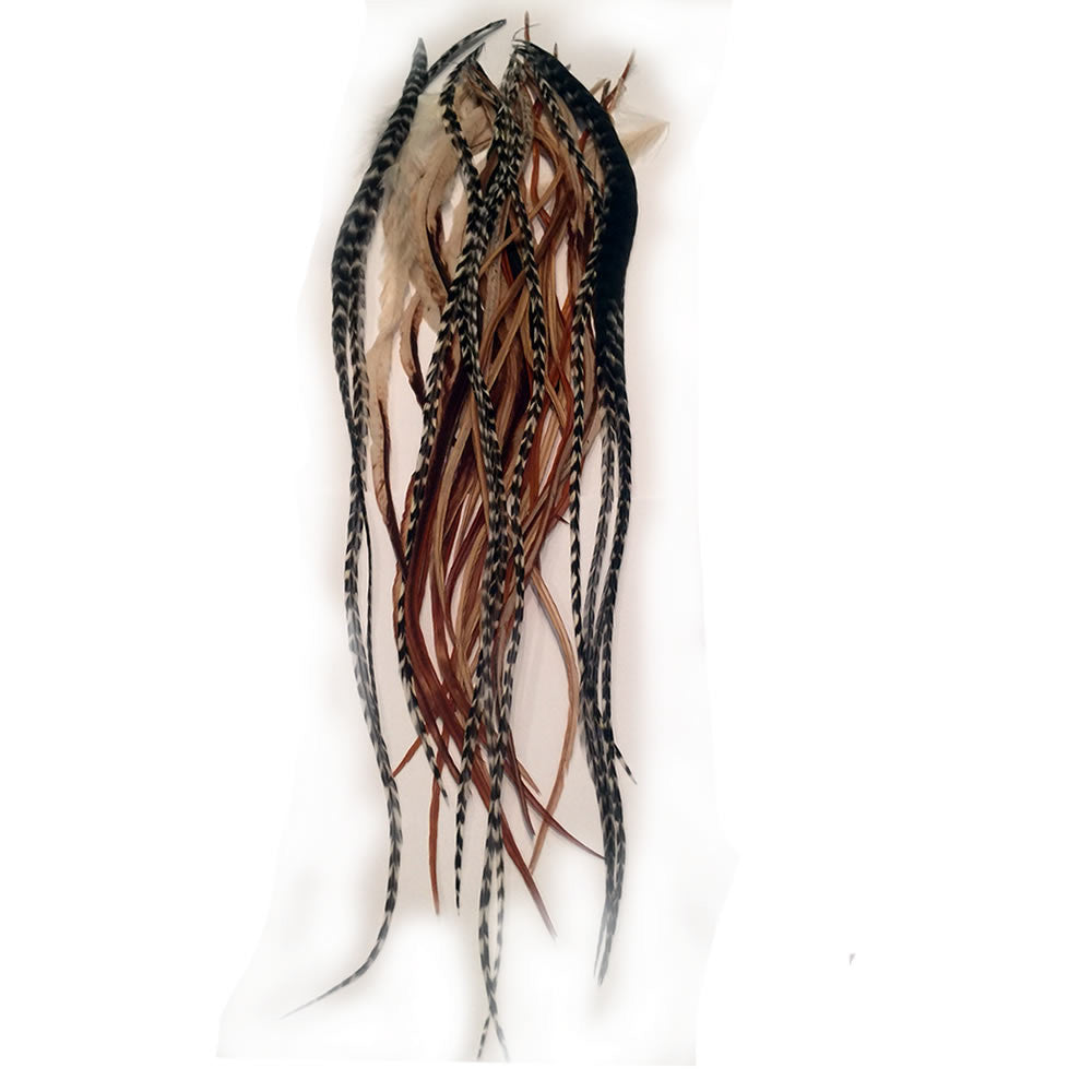 Feather Hair Extension 8 12 In Length Beautiful Natural Beige