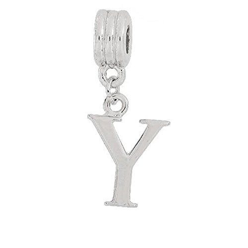 Alphabet Spacer Charm Beads Letter y for Snake Chain Bracelets