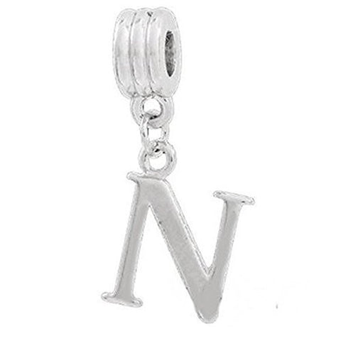 Alphabet Spacer Charm Beads Letter N for Snake Chain Bracelets - Sexy Sparkles Fashion Jewelry - 1