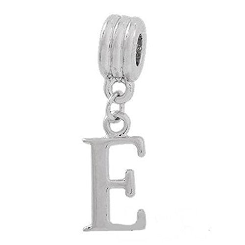 Alphabet Spacer Charm Beads Letter E for Snake Chain Bracelets