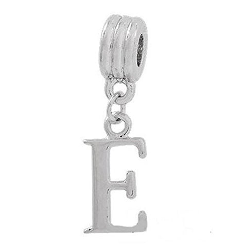 Alphabet Spacer Charm Beads Letter E for Snake Chain Bracelets - Sexy Sparkles Fashion Jewelry - 1