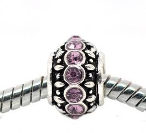 Amethyst Birthstone Charm Beads for Snake Chain Bracelets - Sexy Sparkles Fashion Jewelry - 4
