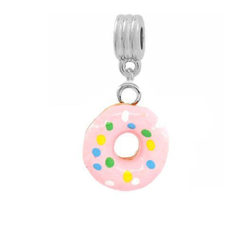 Pink Donut Dangle European Bead Compatible for Most European Snake Chain Bracelets - Sexy Sparkles Fashion Jewelry - 2