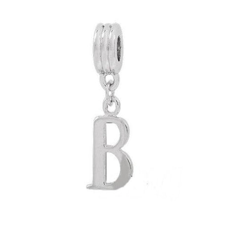 Alphabet Spacer Charm Beads Letter B for Snake Chain Bracelets - Sexy Sparkles Fashion Jewelry - 2