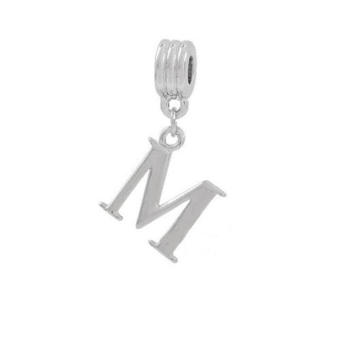 Alphabet Spacer Charm Beads Letter M for Snake Chain Bracelets - Sexy Sparkles Fashion Jewelry - 2