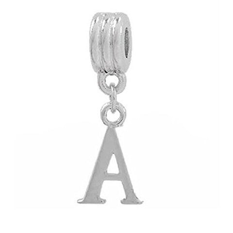 Alphabet Spacer Charm Beads Letter A for Snake Chain Bracelets - Sexy Sparkles Fashion Jewelry - 1