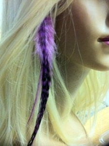 Feather Hair Extension Purple Clip on Feather Hair Extension Approx 5-7 Long Salon Quality Feathers - Sexy Sparkles Fashion Jewelry