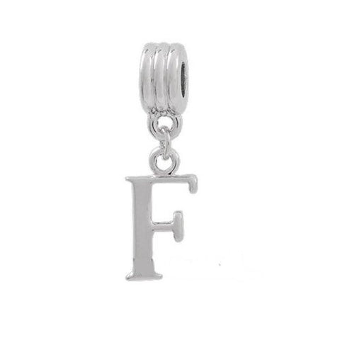 Alphabet Spacer Charm Beads Letter F for Snake Chain Bracelets - Sexy Sparkles Fashion Jewelry - 2