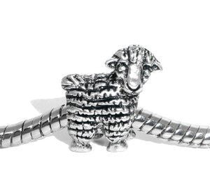 Sheep Animal Bead Spacer for Snake Chain Charm Bracelet - Sexy Sparkles Fashion Jewelry - 3