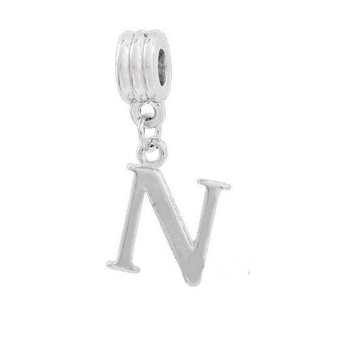 Alphabet Spacer Charm Beads Letter N for Snake Chain Bracelets - Sexy Sparkles Fashion Jewelry - 2