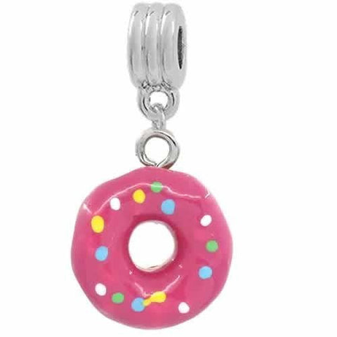 Donut Dangle European Bead Compatible for Most European Snake Chain Bracelets - Sexy Sparkles Fashion Jewelry - 2
