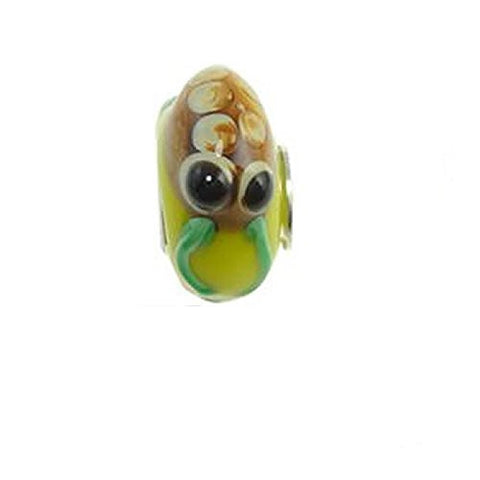 Frog on Murano Glass Bead Compatible for Most European Snake Chain Bracelet - Sexy Sparkles Fashion Jewelry - 2