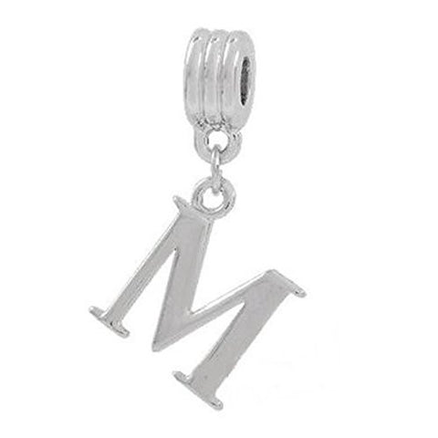 Alphabet Spacer Charm Beads Letter M for Snake Chain Bracelets - Sexy Sparkles Fashion Jewelry - 1