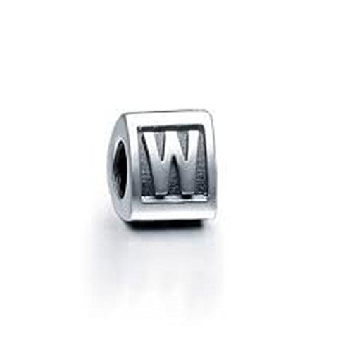 "Alphabet Spacer Charm Beads Letter Triangle Letter ""W"" for Snake Chain Bracelet - Sexy Sparkles Fashion Jewelry - 1"