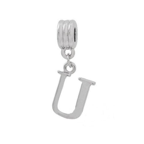Alphabet Spacer Charm Beads Letter Ufor Snake Chain Bracelets - Sexy Sparkles Fashion Jewelry - 2