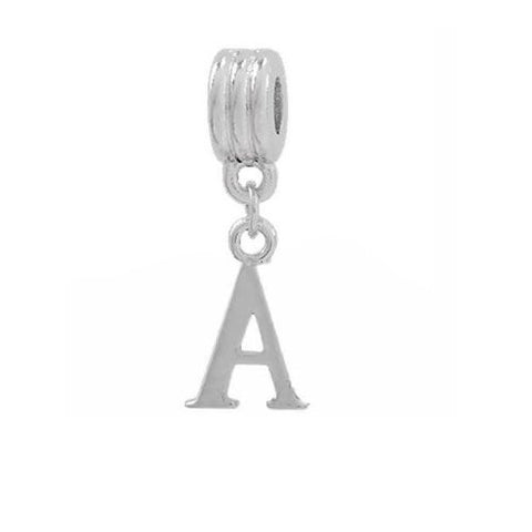 Alphabet Spacer Charm Beads Letter A for Snake Chain Bracelets - Sexy Sparkles Fashion Jewelry - 2